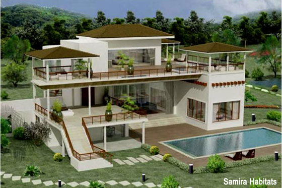 Visualization of Santi Villas, Parhur, Alibaug